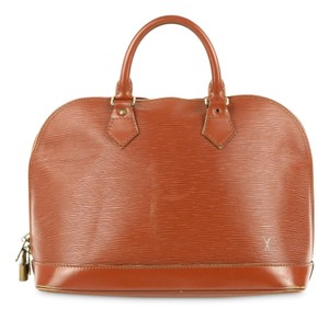 Louis Vuitton Leather Alma Pm Satchel in Brown