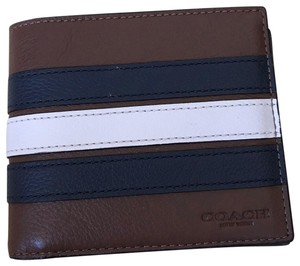 Coach $175 NWT 3-IN-1 Wallet in Signature Canvas with Varsity Stripe F24649