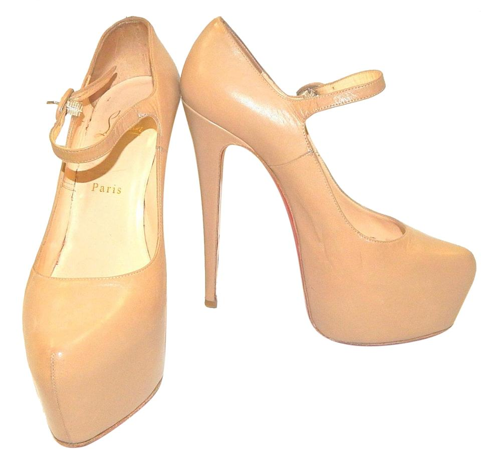 Christian 160 Louboutin Nude 'lady Daf' 160 Christian Platforms 0be30d