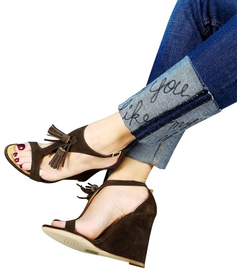 Preload https://img-static.tradesy.com/item/24069569/dsquared2-brown-new-dsq2-suede-leather-open-toe-t-strap-tassel-detail-sandals-wedges-size-us-11-regu-0-1-540-540.jpg