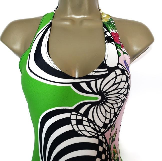 Versus Versace Versus by Gianni Versace Swimsuit Lime Green Abstract Floral Print