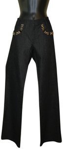 St. John Nwot Washed Accents Trouser/Wide Leg Jeans-Dark Rinse
