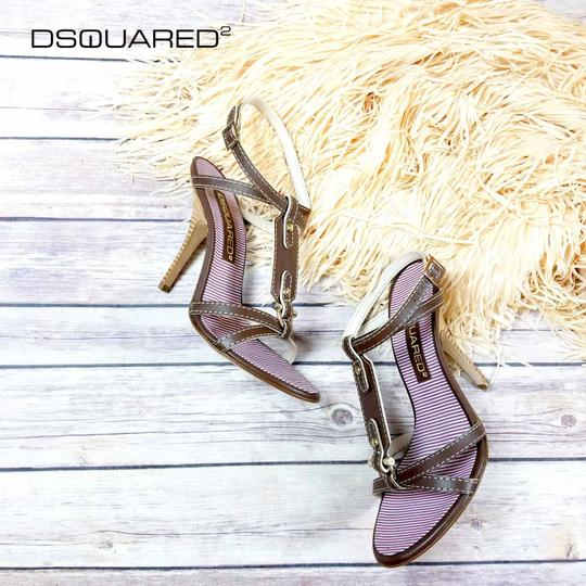 Dsquared2 Ankle-wrap Italian High-heel Brown Sandals