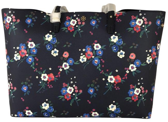 Tory Burch Kerrington Square Pansy Bouquet Tote Tory Burch Kerrington Square Pansy Bouquet Tote Image 1