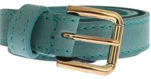 Dolce&Gabbana D25254-1 Women's Green Leather Belt (80 cm / 32 Inches)