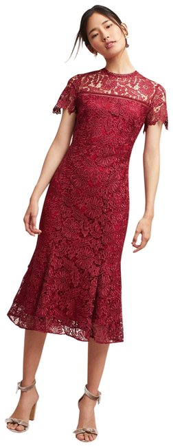 Preload https://img-static.tradesy.com/item/24069939/anthropologie-cranberry-rowena-lace-mid-length-cocktail-dress-size-6-s-0-1-650-650.jpg