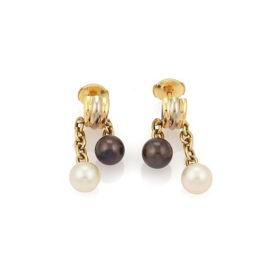 Preload https://img-static.tradesy.com/item/24069974/cartier-22298-trinity-cultured-black-and-white-pearls-18k-gold-wcert-earrings-0-0-540-540.jpg