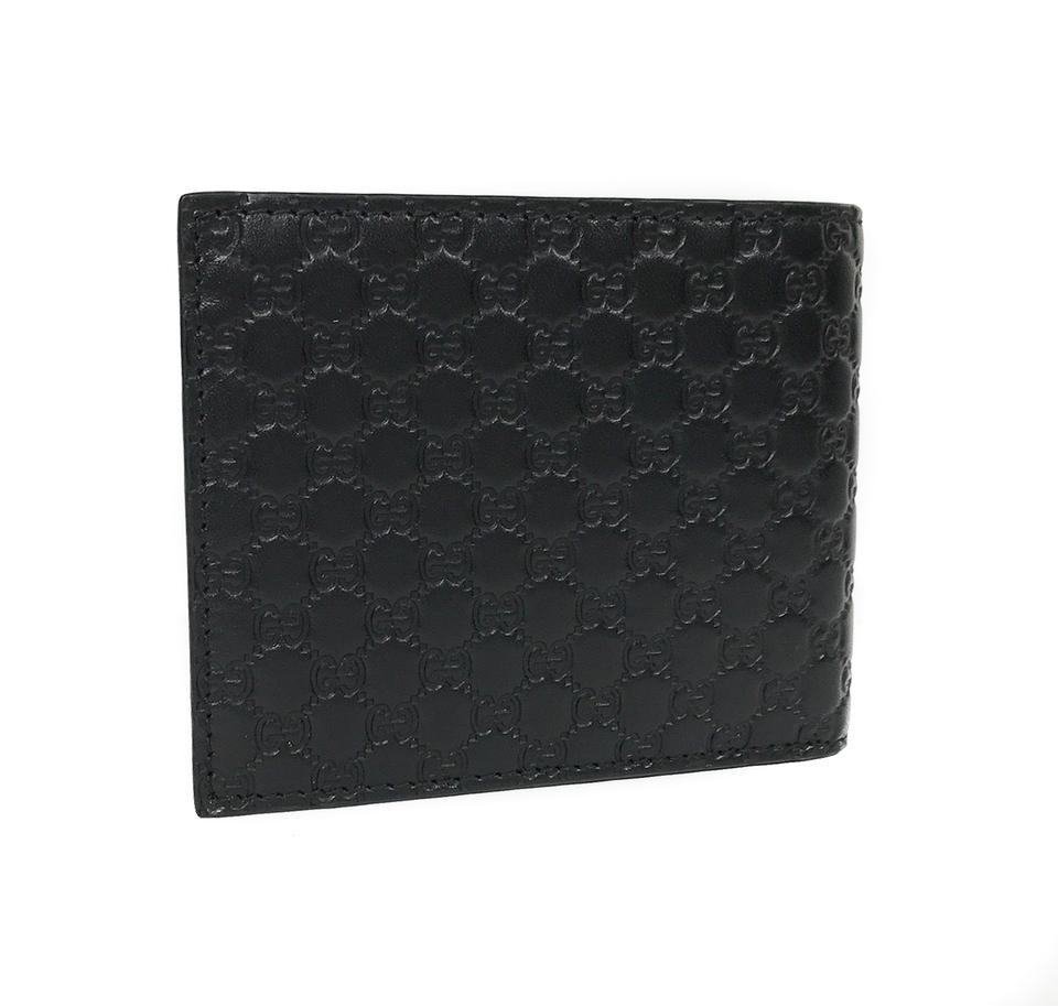 96aa50b91786 Gucci Black 260987 Men s Microguccissima Leather Bifold Wallet 29% off  retail