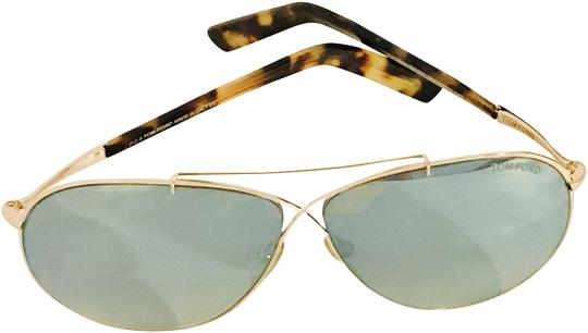 Tom Ford Tom Ford, Women's Metallic Crisscross Aviator Sunglasses- Ft0374/s 28x