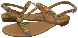 Vaneli Studded T-strap Strappy Multi Cork Sandals