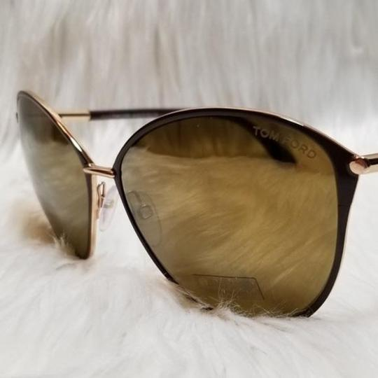 Tom Ford Cat Eye Women Sunglasses TF0320 28G Metal Frame with Mirrored Lens
