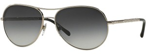 Burberry Aviator Style Unisex BE3082 1005/8G Grey Gradient Lens Sunglasses