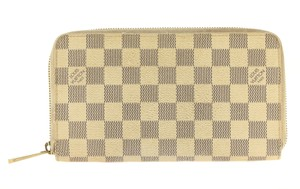 Louis Vuitton Damier Azur Zippy Large Long Zip Wallet and Checkbook Holder