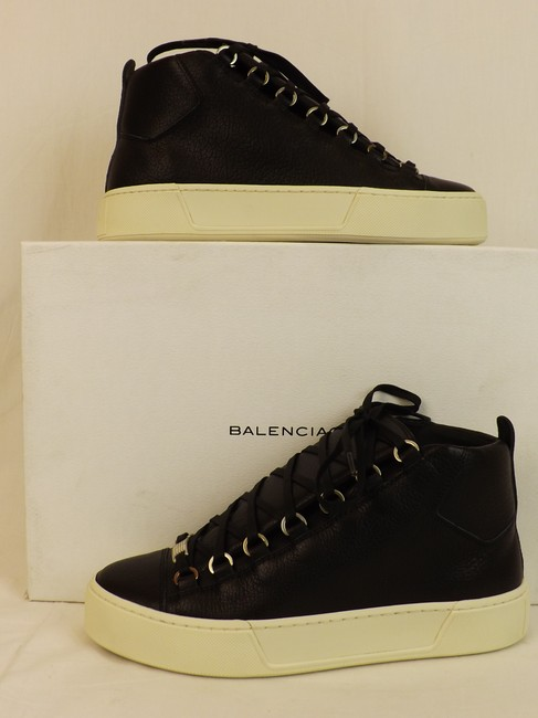 Item - Black Arena Leather Lace Up Hi Top Sneakers 39 Us 6 Shoes