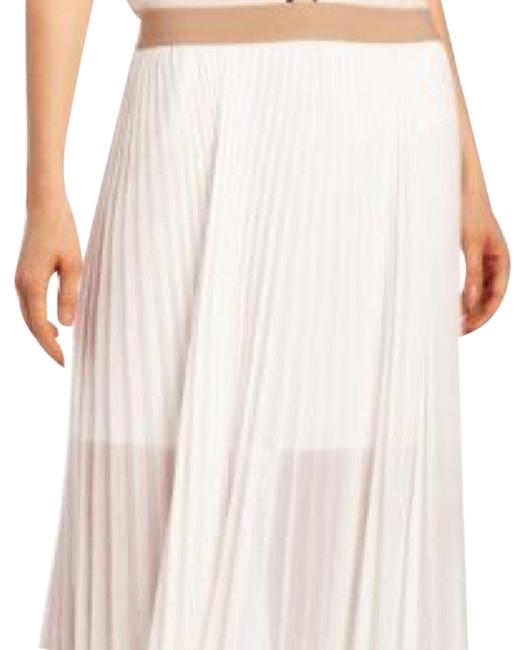 Item - Off White Pleated Skirt Size 4 (S, 27)