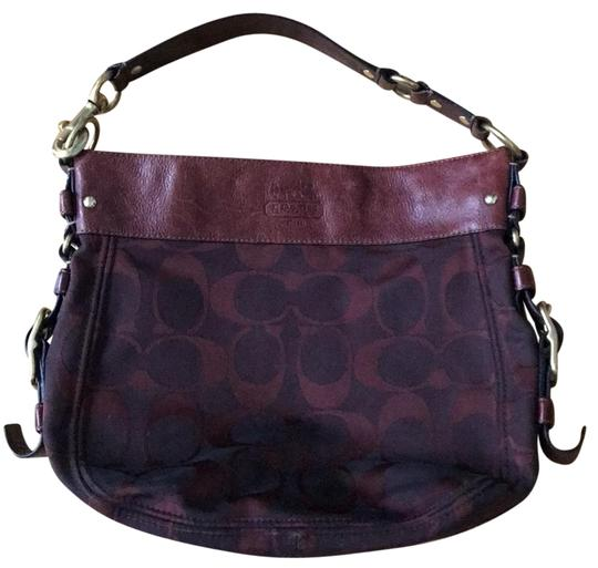 Preload https://img-static.tradesy.com/item/24070257/coach-purse-burgundy-cloth-with-leather-and-brass-details-hobo-bag-0-1-540-540.jpg