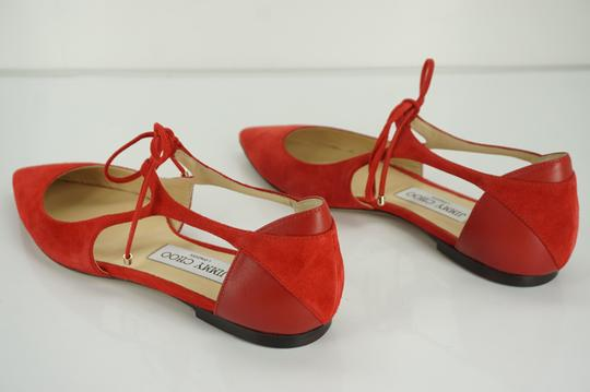 Jimmy Choo Pointed Toe Womens Dressy Red Sandals