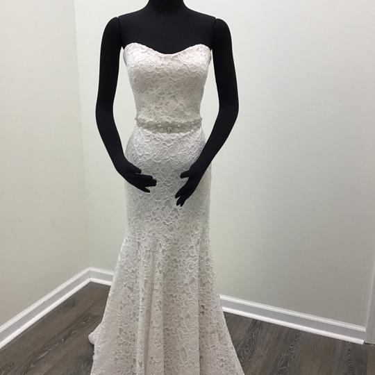Preload https://img-static.tradesy.com/item/24070291/mikaella-bridal-naturalpearl-lace-style-2165-wbeaded-belt-sexy-wedding-dress-size-8-m-0-0-540-540.jpg