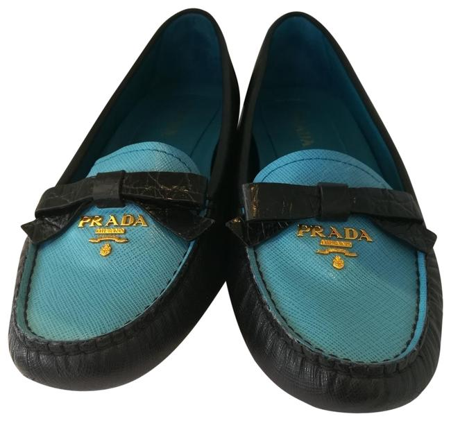 Prada Black and Blue Loafer Flats Size EU 38 (Approx. US 8) Regular (M, B) Prada Black and Blue Loafer Flats Size EU 38 (Approx. US 8) Regular (M, B) Image 1