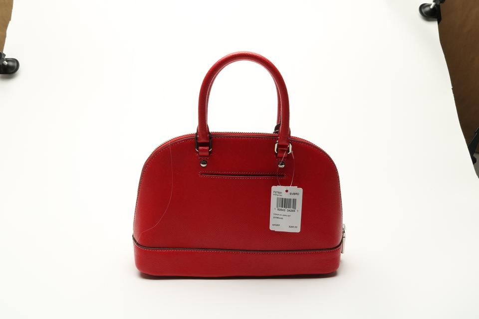 49807baf4638 Coach Sierra Mini Satchel Crossbody ( F27591) Bright Red Crossgrain ...