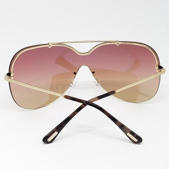 Tom Ford Shield Style Women Sunglasses TF51928Z Metal Frame with Gradient Lens