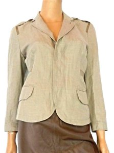 Rachel Roy Signature Top Coat Tabs Work Beige Blazer