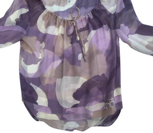 Trinity Top purple, cream