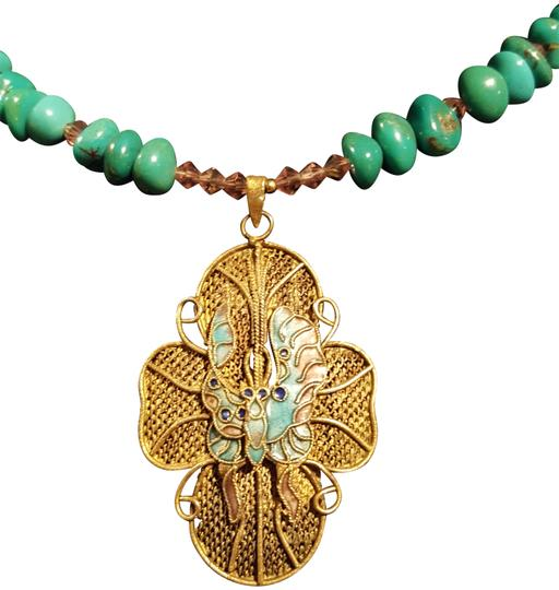 Preload https://img-static.tradesy.com/item/24070500/turquoise-butterfly-pendant-necklace-0-1-540-540.jpg