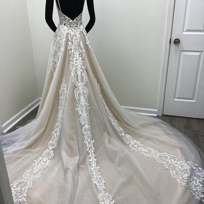 Calla Blanche Ivory/Nude Lace Tulle 17254 Odelia Traditional Wedding Dress Size 8 (M) Calla Blanche Ivory/Nude Lace Tulle 17254 Odelia Traditional Wedding Dress Size 8 (M) Image 2