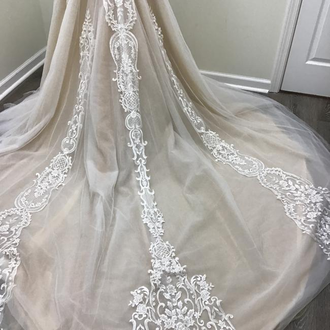 Calla Blanche Ivory/Nude Lace Tulle 17254 Odelia Traditional Wedding Dress Size 8 (M) Calla Blanche Ivory/Nude Lace Tulle 17254 Odelia Traditional Wedding Dress Size 8 (M) Image 3