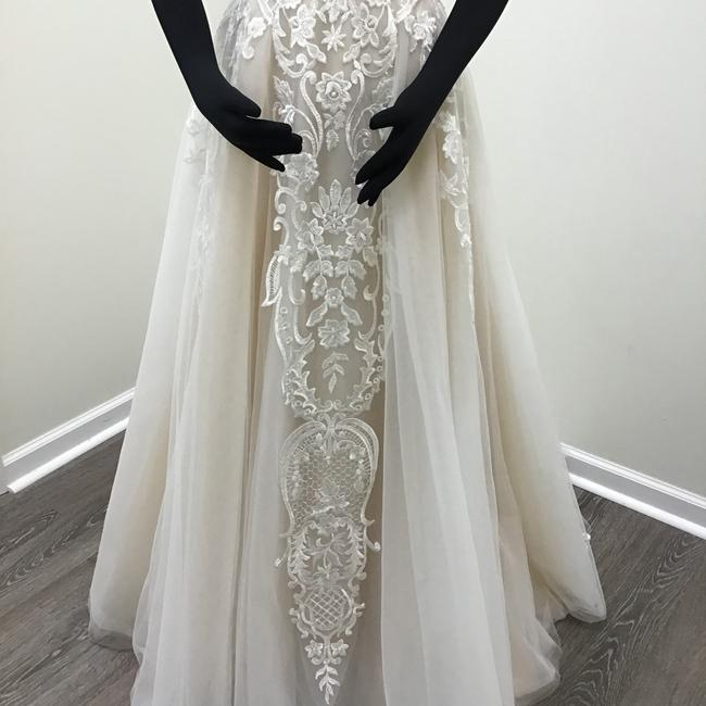 Calla Blanche Ivory/Nude Lace Tulle 17254 Odelia Traditional Wedding Dress Size 8 (M) Calla Blanche Ivory/Nude Lace Tulle 17254 Odelia Traditional Wedding Dress Size 8 (M) Image 6