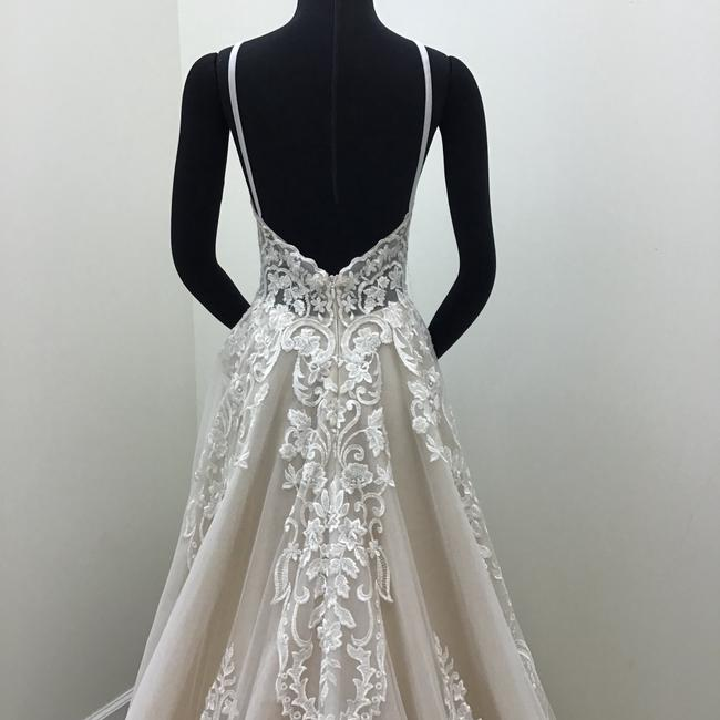 Calla Blanche Ivory/Nude Lace Tulle 17254 Odelia Traditional Wedding Dress Size 8 (M) Calla Blanche Ivory/Nude Lace Tulle 17254 Odelia Traditional Wedding Dress Size 8 (M) Image 7