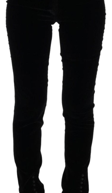 Preload https://img-static.tradesy.com/item/24070587/ermanno-scervino-black-d30300-3-women-s-velvet-slim-fit-it-42-skinny-jeans-size-29-6-m-0-1-650-650.jpg
