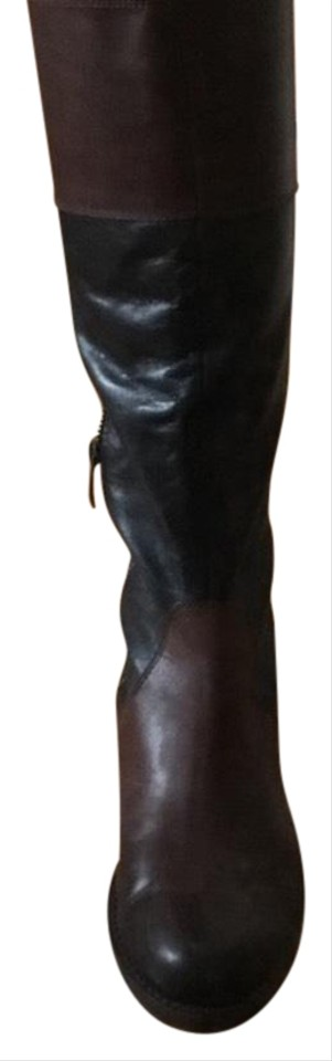 Vince and Camuto Black and Vince Brown Duo Color Boots/Booties bf16fc