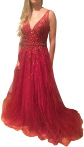 Jovani Train Sequins Dress