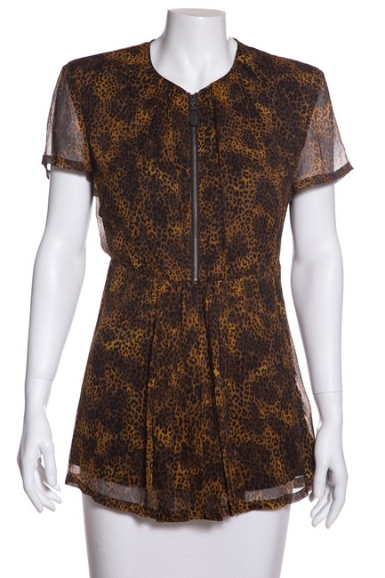 Preload https://img-static.tradesy.com/item/24070689/burberry-brit-tan-and-black-micro-leopard-print-blouse-size-4-s-0-0-650-650.jpg