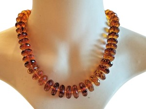 Amber Vintage Transparent Baltic Amber Necklace From Russia