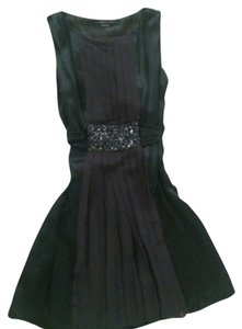 BCBGMAXAZRIA Beaded Sash Party Dress