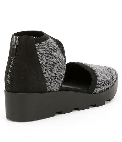 Eileen Fisher Knit Black-Grey Wedges Image 1