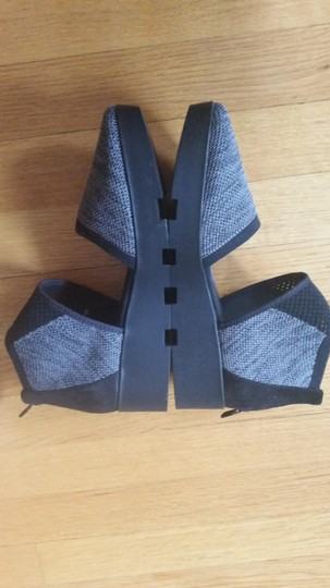 Eileen Fisher Knit Black-Grey Wedges Image 3