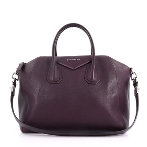 Givenchy Leather Tote in plum