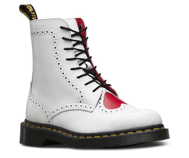 Item - White Bentley Ii White+heart Red Leather Pascal Boots/Booties Size US 8.5 Regular (M, B)