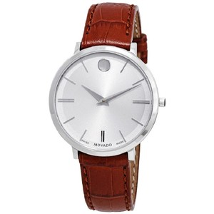 Movado Ultra Slim Dial Ladies Leather Watch