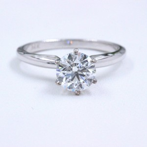 Hearts on Fire F Vs2 Ideal Cut Round Diamond 1.03 Ct 14k White Gold Engagement Ring