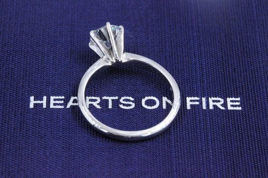 Hearts on Fire F Vs2 Ideal Cut Round Diamond 1.03 Ct 14k White Gold Engagement Ring Image 10