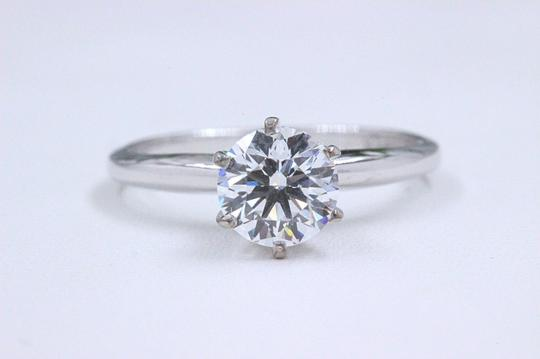Hearts on Fire F Vs2 Ideal Cut Round Diamond 1.03 Ct 14k White Gold Engagement Ring Image 11