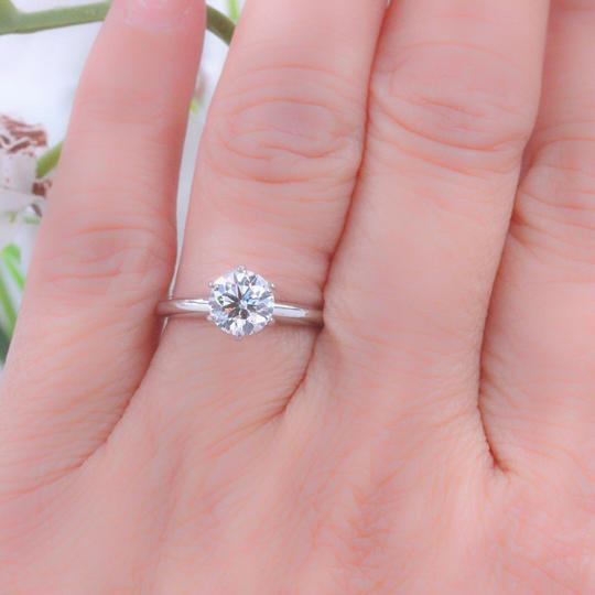 Hearts on Fire F Vs2 Ideal Cut Round Diamond 1.03 Ct 14k White Gold Engagement Ring Image 3