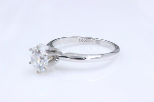 Hearts on Fire F Vs2 Ideal Cut Round Diamond 1.03 Ct 14k White Gold Engagement Ring Image 5
