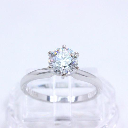 Hearts on Fire F Vs2 Ideal Cut Round Diamond 1.03 Ct 14k White Gold Engagement Ring Image 6
