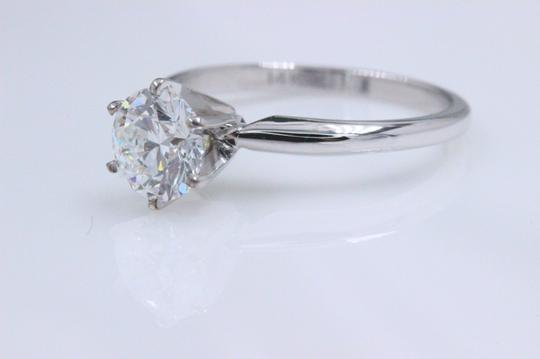 Hearts on Fire F Vs2 Ideal Cut Round Diamond 1.03 Ct 14k White Gold Engagement Ring Image 7